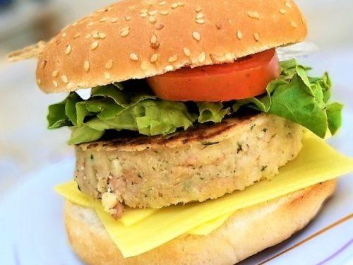 hamburguesa de pescado, hamburguesa entrada
