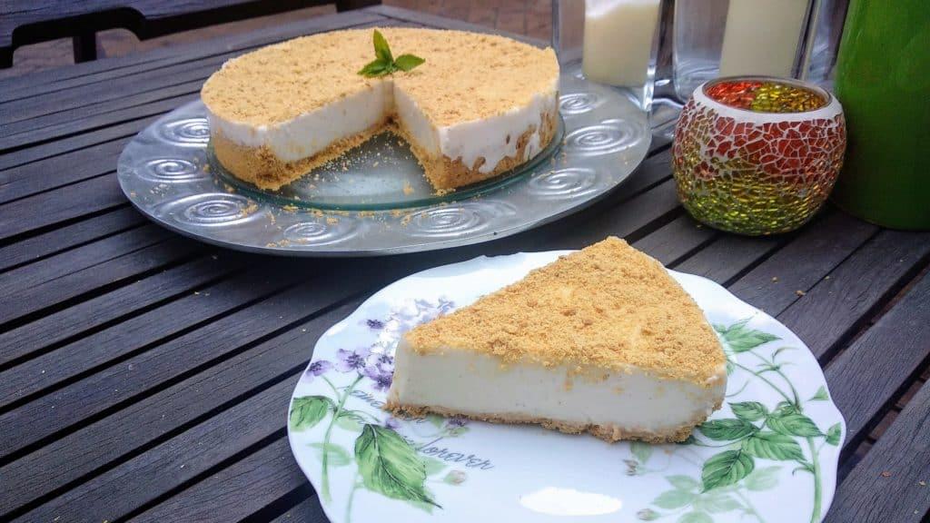 Tarta de cuajada tarta hecha entrada