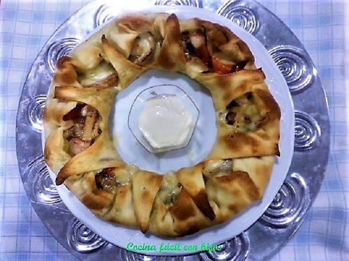 rosca de Reyes, pizza plato terminado entrada