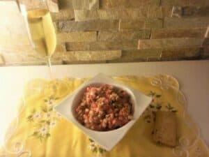 steak tartar receta plato terminado