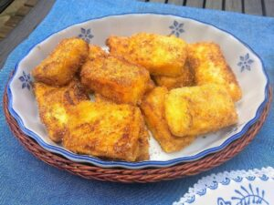 Leche frita, plato terminado, foto receta