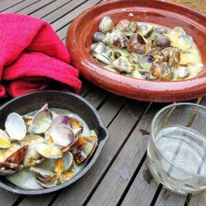 Almejas a la marinera, receta gallega