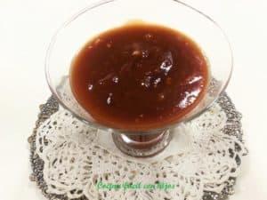 salsa barbacoa casera, salsa terminada