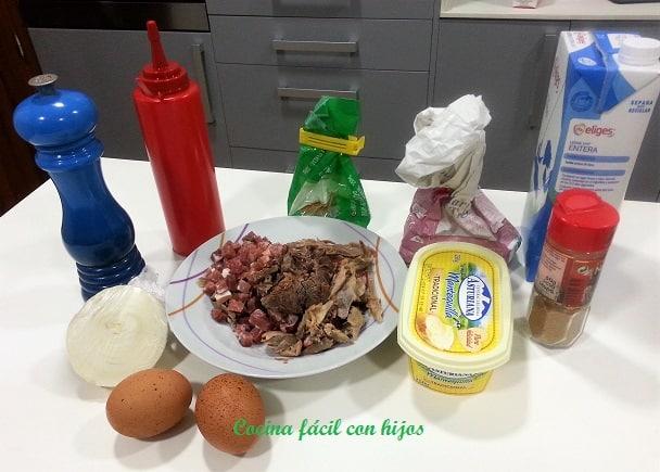 Ingredientes de las croquetas de cocido