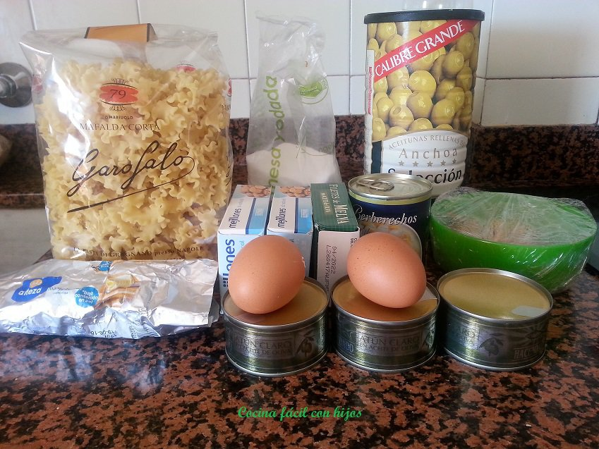 ensalada de pasta ingredientes
