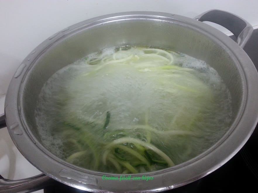 cociendo el calabacín