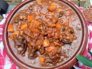 caldereta de cordero extremeña, plato terminado receta