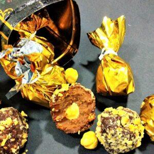 Bombones de chocolate caseros, al estilo Ferrero Rocher