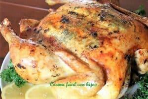 pollo relleno al horno plato terminado receta
