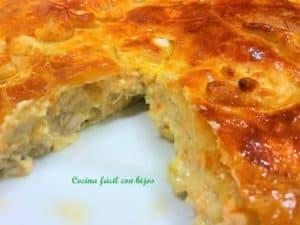 pastel de pollo al horno, pastel hecho foto receta