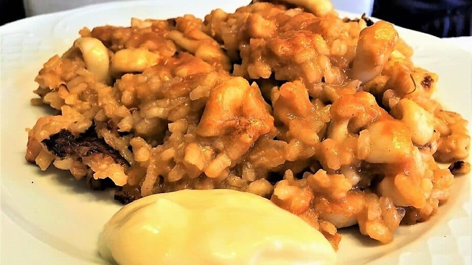 arroz a banda, plato terminado, receta