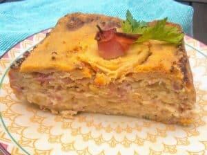 pastel de cebolla plato terminado receta