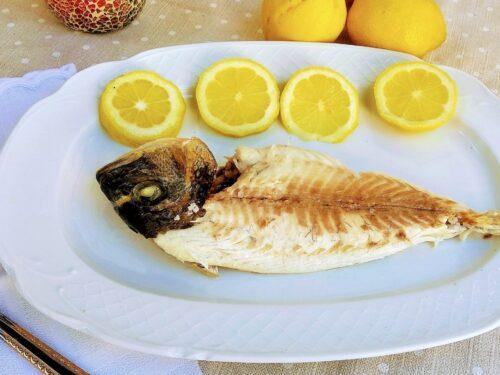 dorada a la sal plato terminado, foto entrada