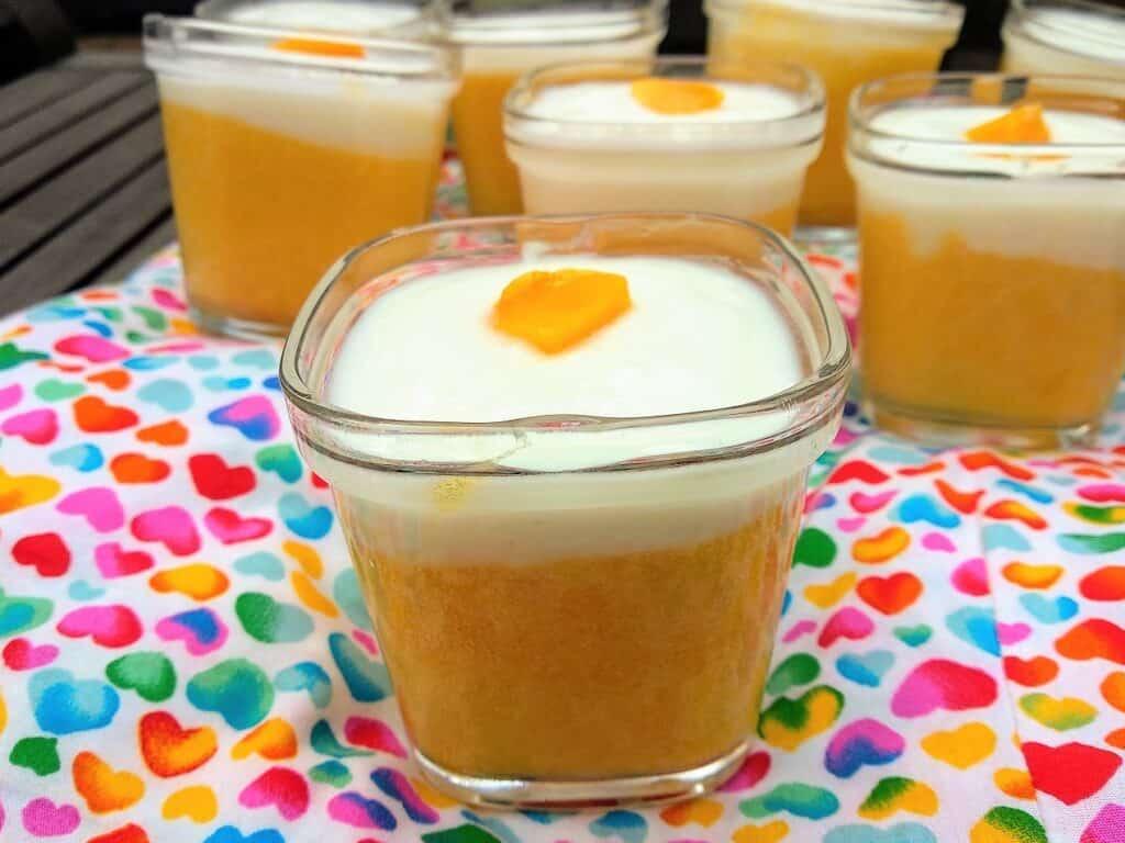 Mousse de mango light terminada, foto entrada
