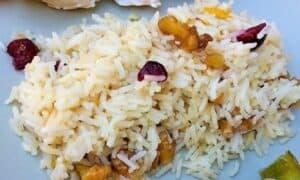 arroz persa plato terminado foto entradaa