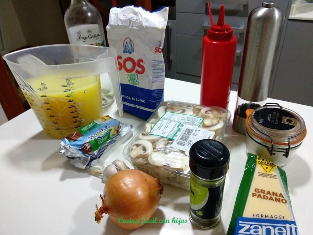 risotto de champiñones ingredientes