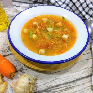 Sopa de verduras, fácil, rica y reconfortante