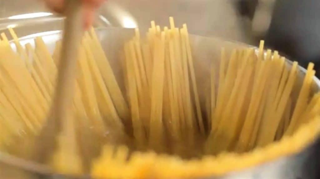 como cocer pasta, pasta en cacerola