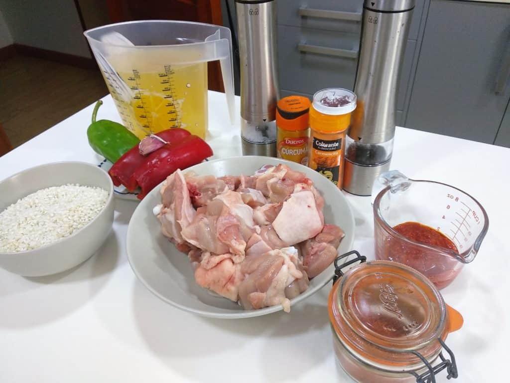 arroz con pollo, ingredientes