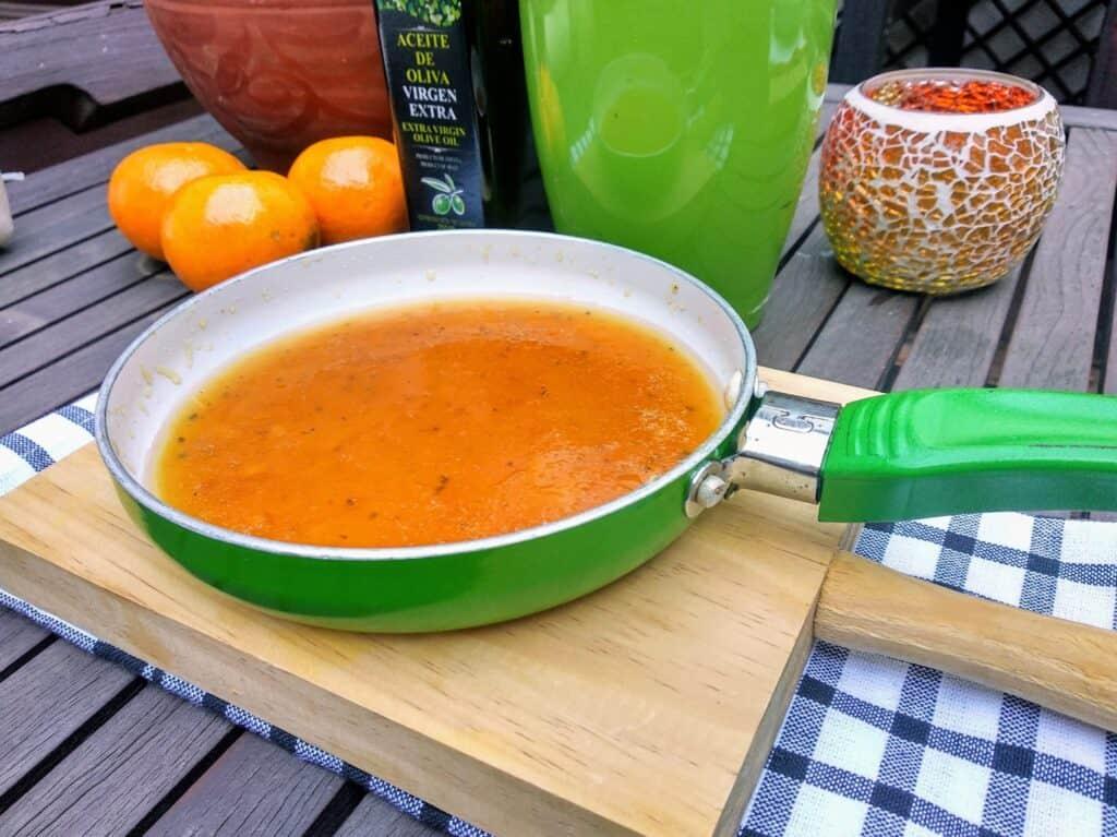 salsa de naranja foto entrada salsa terminada