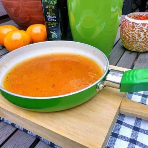 Salsa de naranja para platos salados