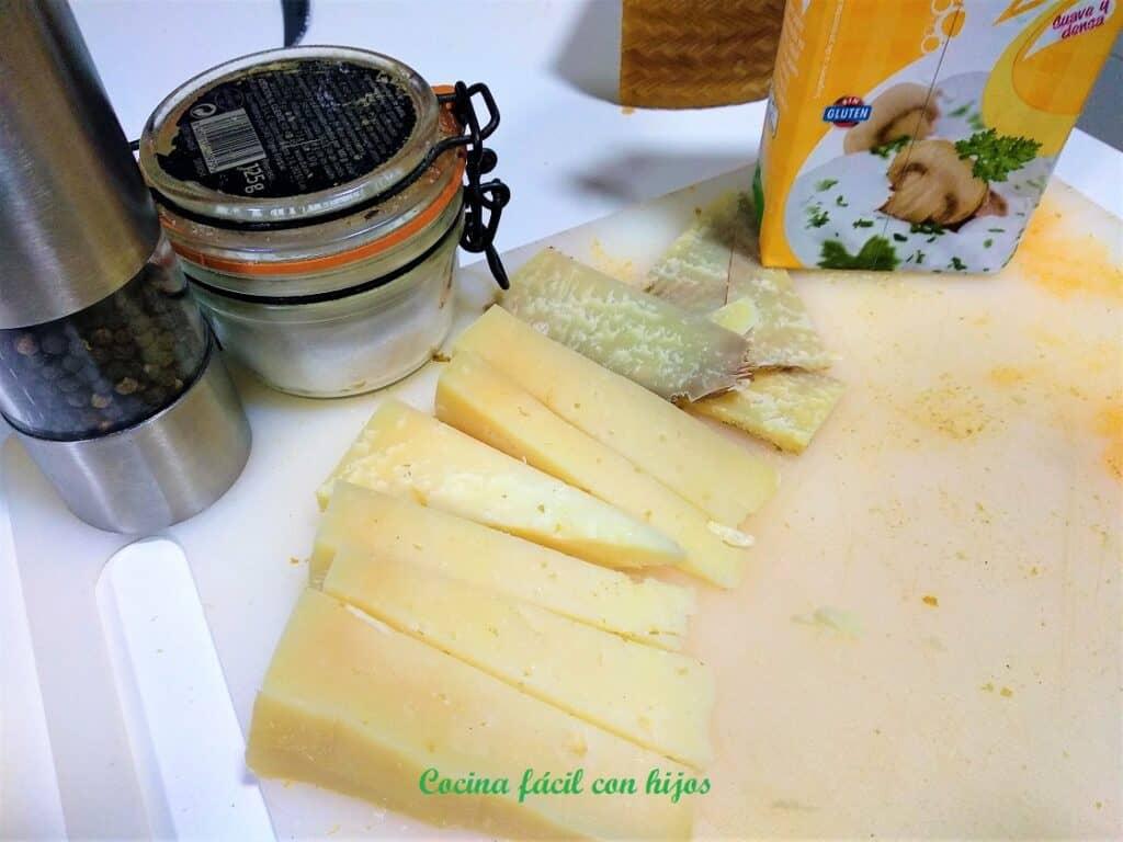 Salsa de queso para carne