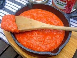 salsa romesco, plato terminado, receta