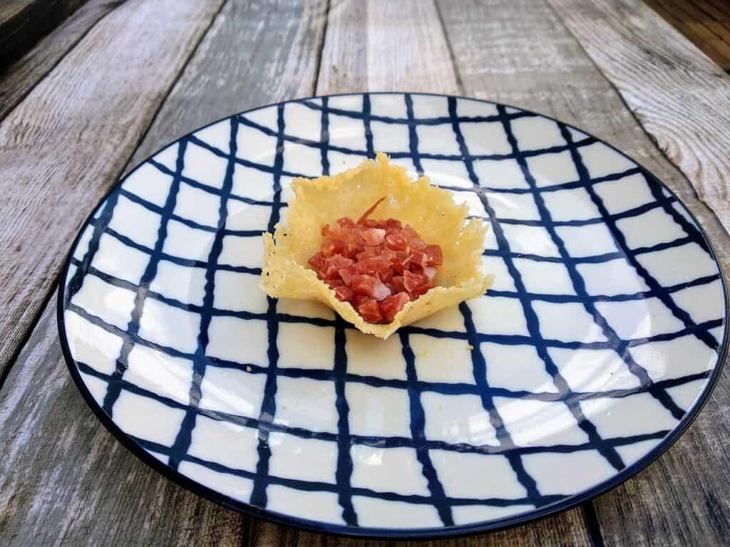 Forma de tartaleta, para combinar con otros alimentos.